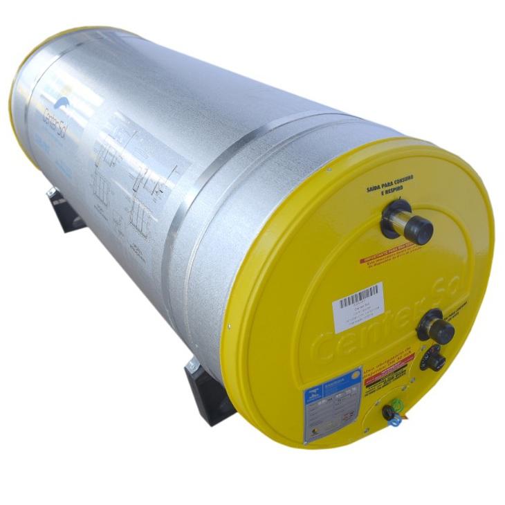 Boiler/Reservatório para Aquecedor Solar 200 Litros Aço Inox 304  Alta Pressão