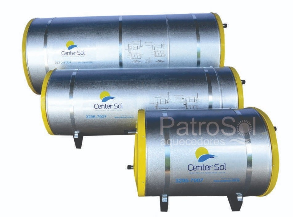 Boiler/Reservatório para Aquecedor Solar 300 Litros Aço Inox 316 – Alta Pressão