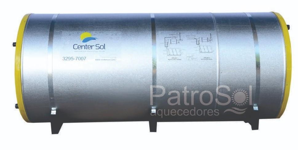 Boiler/Reservatório para Aquecedor Solar 600 Litros Aço Inox 316 – Alta Pressão