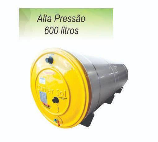 Boiler/Reservatório para Aquecedor Solar 600 Litros Aço Inox 304  Alta Pressão