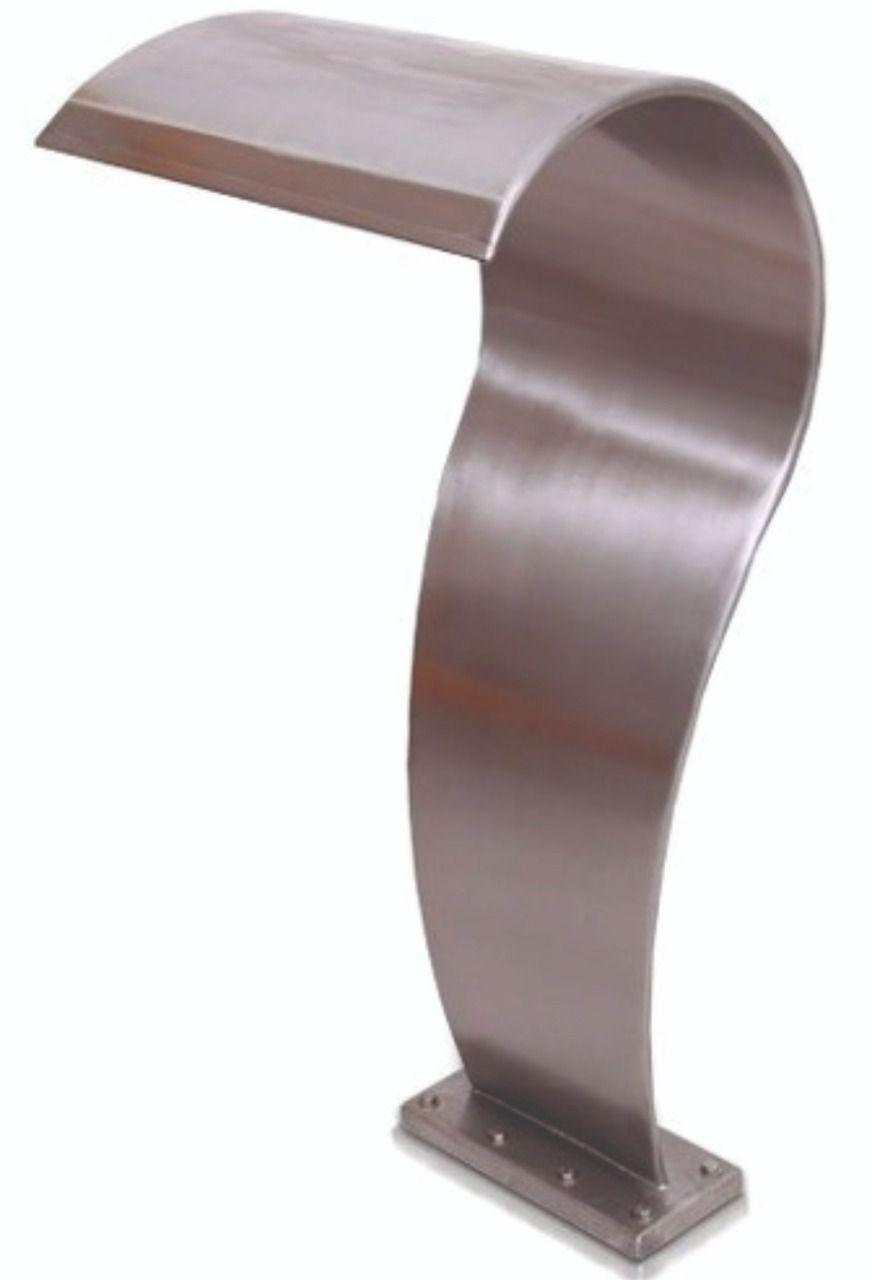 Cascata Piscina em Aço Inox 304 High Tech Média 80cm