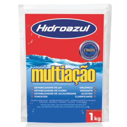Cloro Para Piscina Multiação  Refil 1Kg - Hidroazul