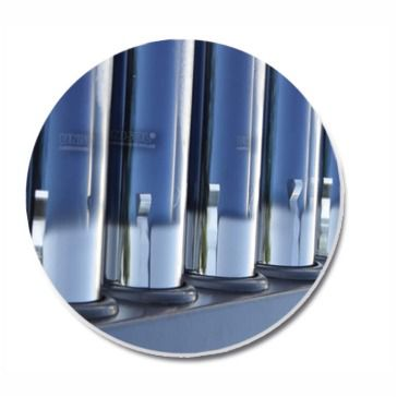 Coletor Aquecedor Solar Modular a Vácuo 30 Tubos Aço Inox 316 UNISOL