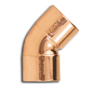 Curva de Cobre 45º 22mm sem Anel - Eluma