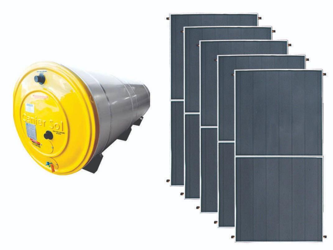 Aquecedor Solar – Boiler 1000 Litros Nível/Desnível Baixa Pressão + 5 placas 2x1m cobre