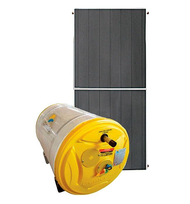 Aquecedor Solar – Boiler 200 Litros Nível/Desnível Baixa Pressão + 1 placa 2x1m cobre