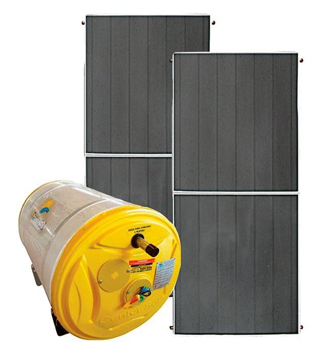 Aquecedor Solar – Boiler 300 Litros Nível/Desnível Baixa Pressão + 2 placas 2x1m cobre