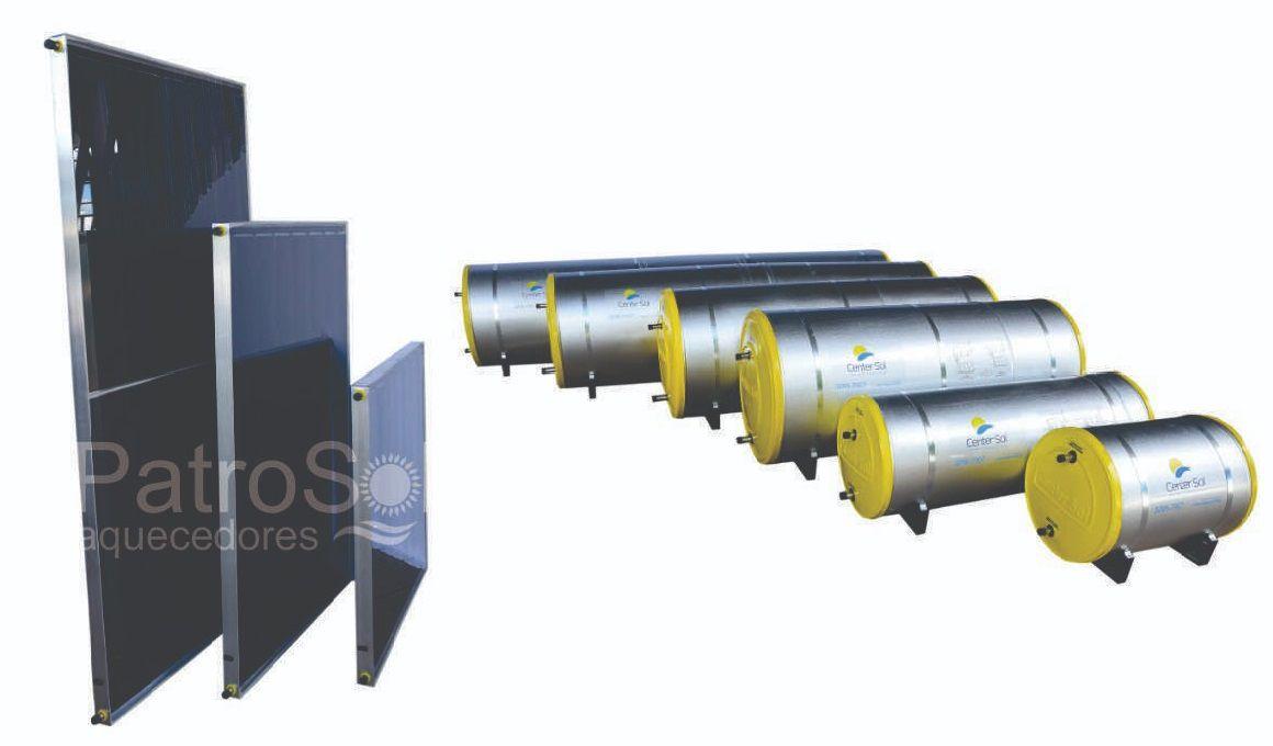 Aquecedor Solar  Boiler 1000 Litros Nível/Desnível Baixa Pressão + 5 placas 2x1m cobre