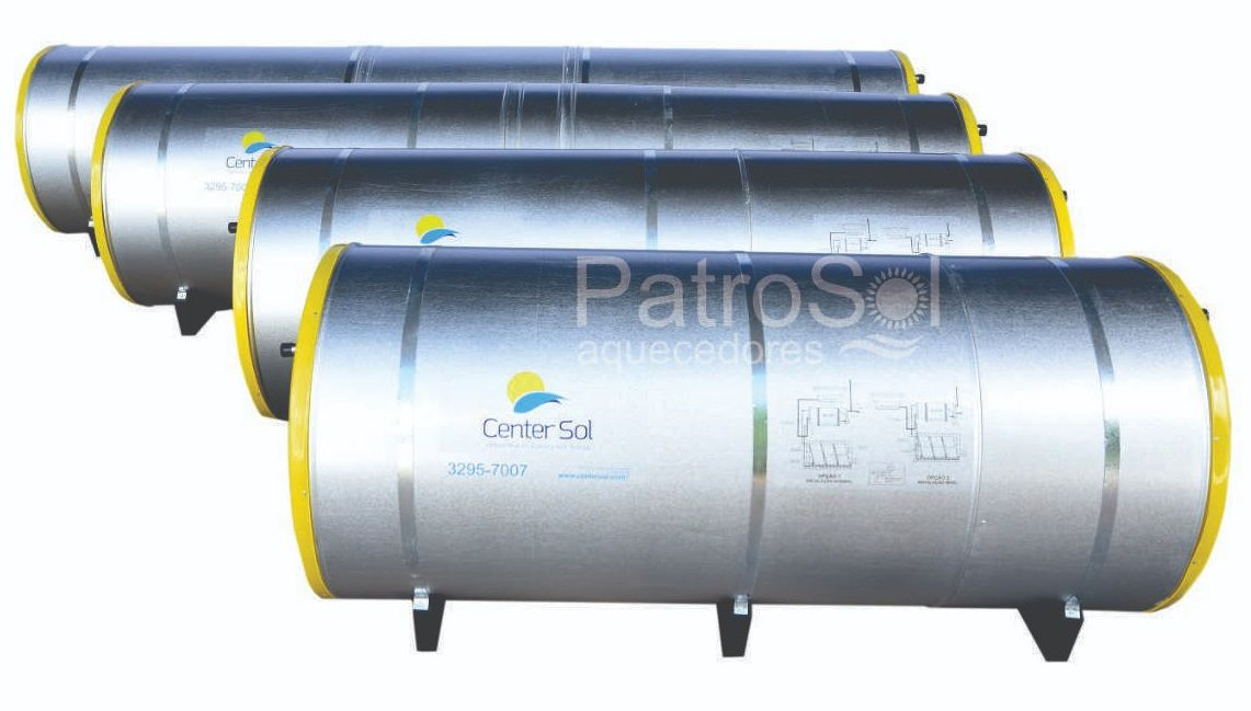 Kit Aquecedor Solar – Boiler 300 Litros Nível/Desnível Baixa Pressão + 2 placas 2x1m cobre