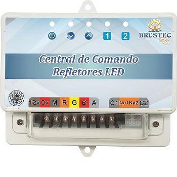 Kit Iluminação Com 4 Refletores e Central Sonora - Brustec