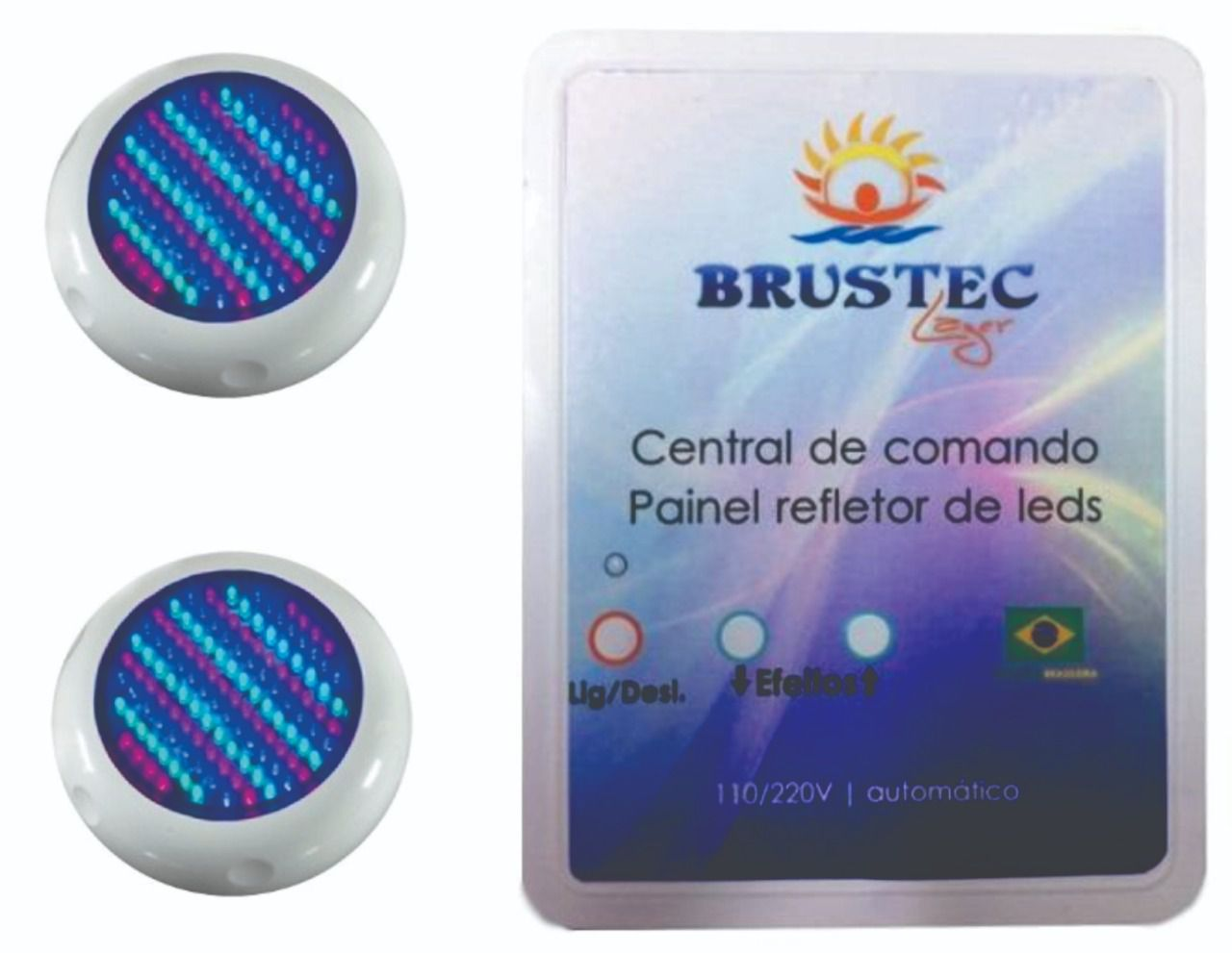 Kit Iluminação Piscina LED ABS Para Até 20M² - Brustec