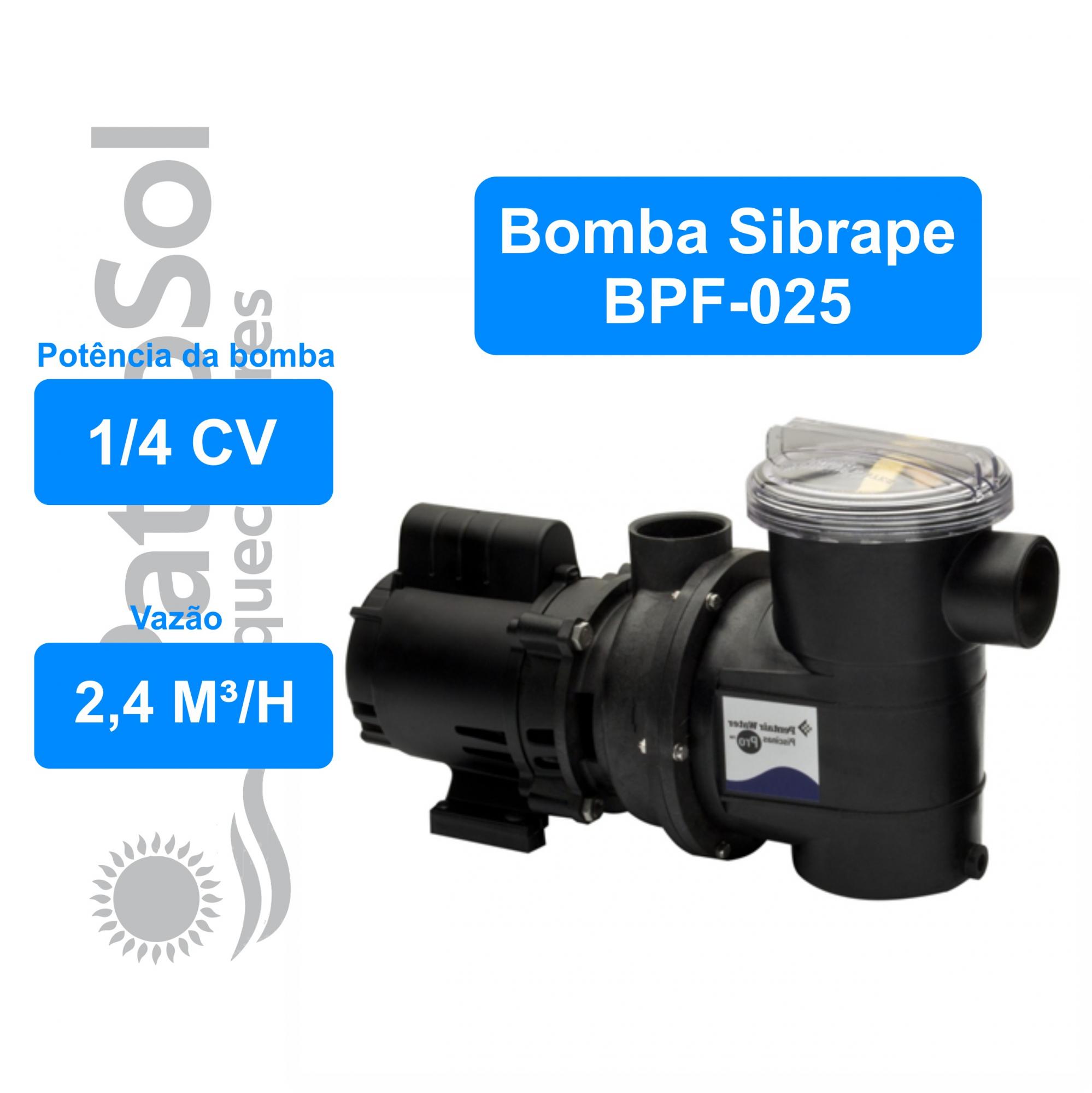 Moto Bomba Para Piscina Sibrape 1/4 Cv - Motor Weg 110/220 Volts