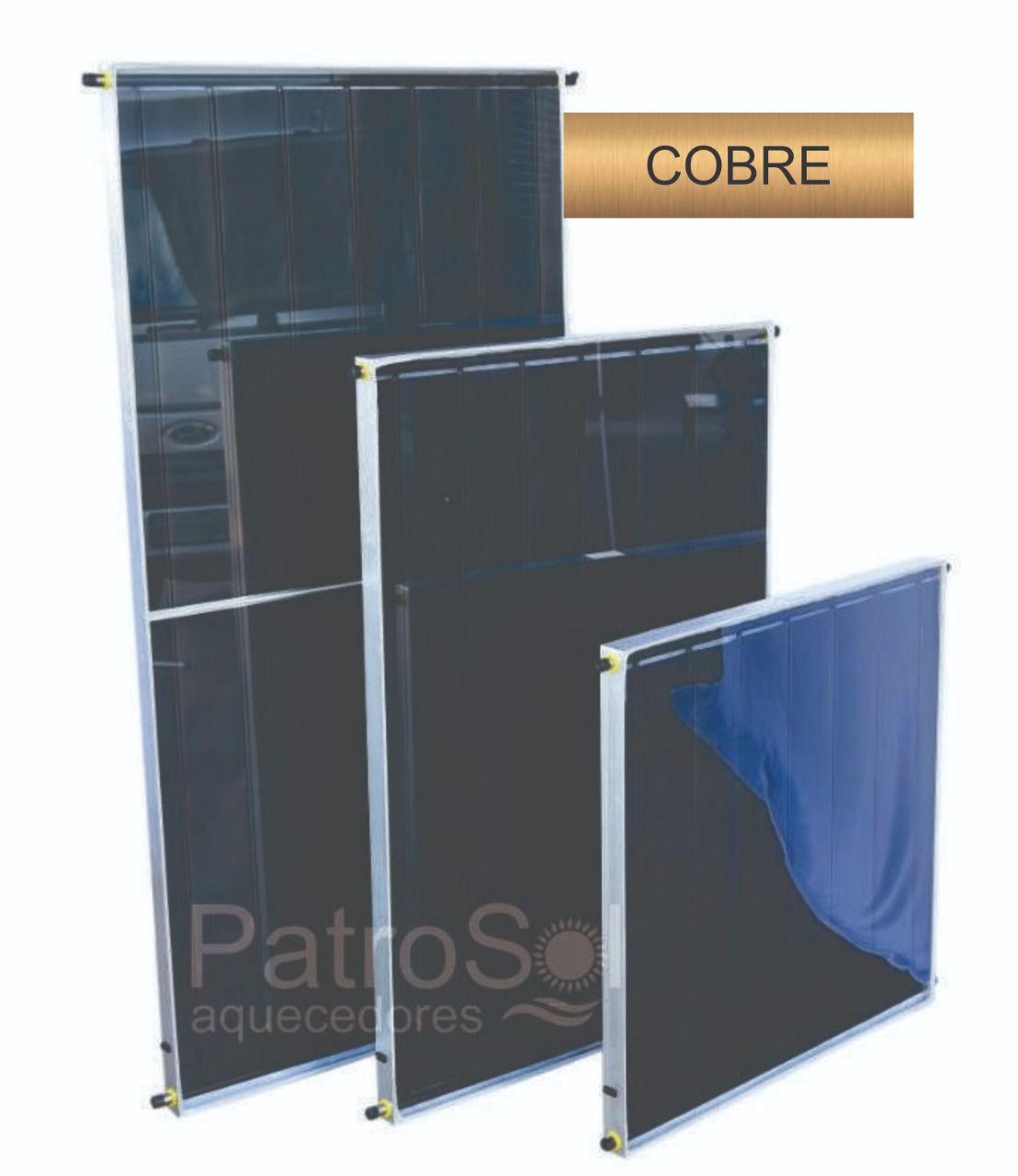 Placa para Aquecedor Solar - Coletor 2x1 Cobre