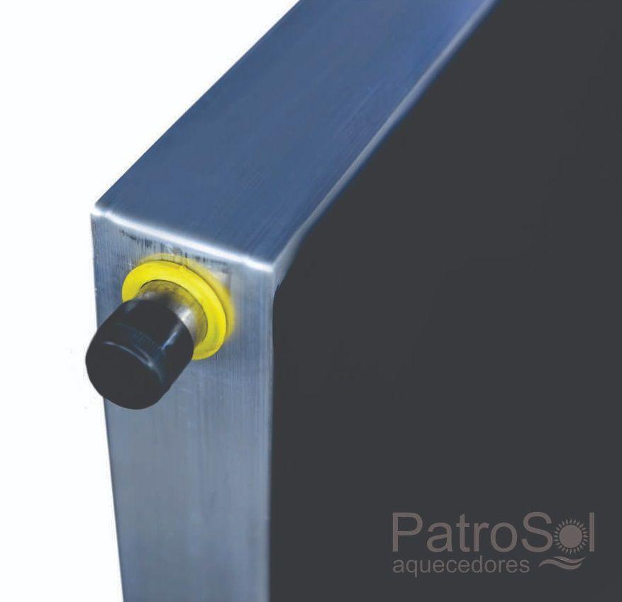 Placa para Aquecedor Solar - Coletor 2x1m Inox
