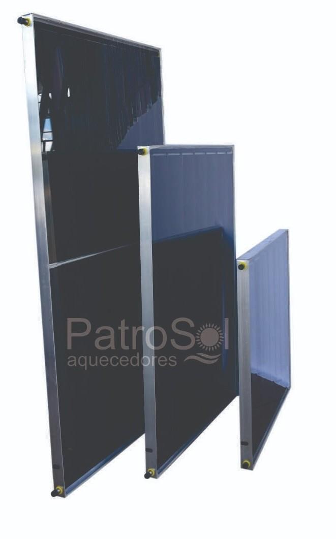 Placa para Aquecedor Solar - Coletor 2x1m Cobre Fundo de Alumínio