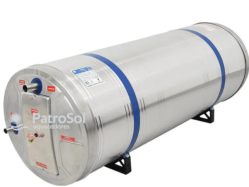 Reservatório Térmico Boiler para Aquecedor Solar 200L Baixa Pressão Aço Inox 304 Desnível Unisol