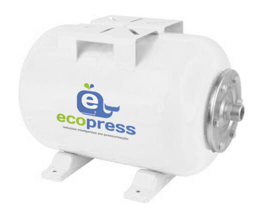 Vaso / Tanque De Expansão 50 Litros Horizontal Ecopress