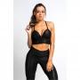Top Fitness Feminino com Bojo Preto Brilho Winner