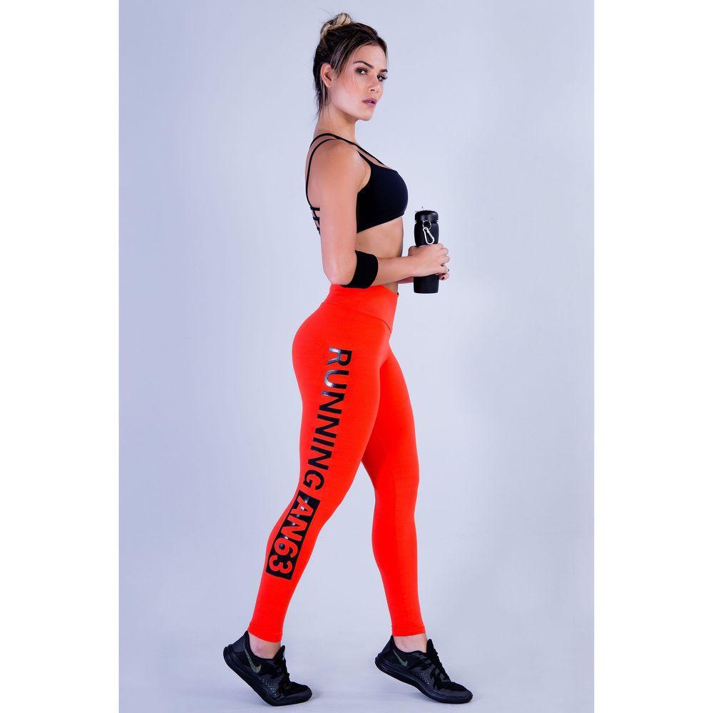 Calça Legging Feminina Laranja Running