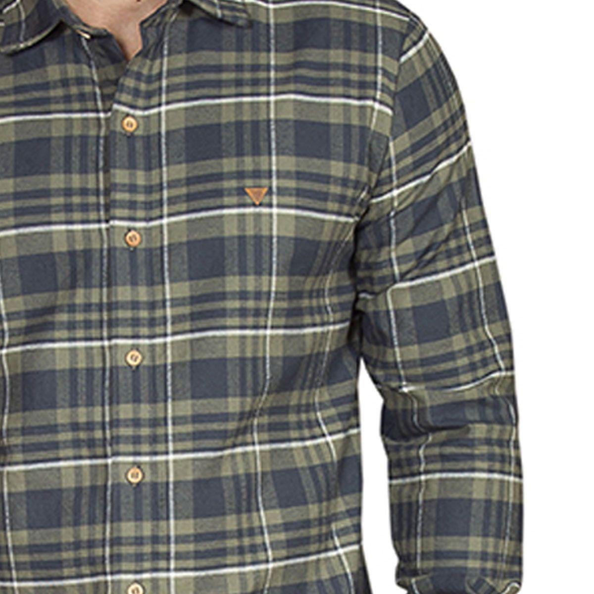 Camisa Manga Longa Malhão Xadrez Verde