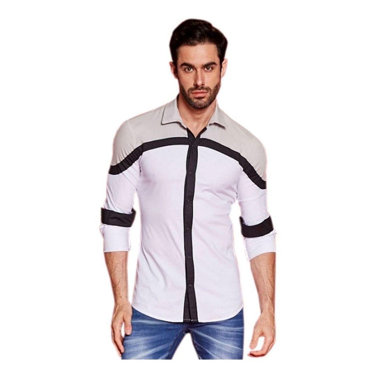Camisa Pargan Manga Longa Mazzini Branca