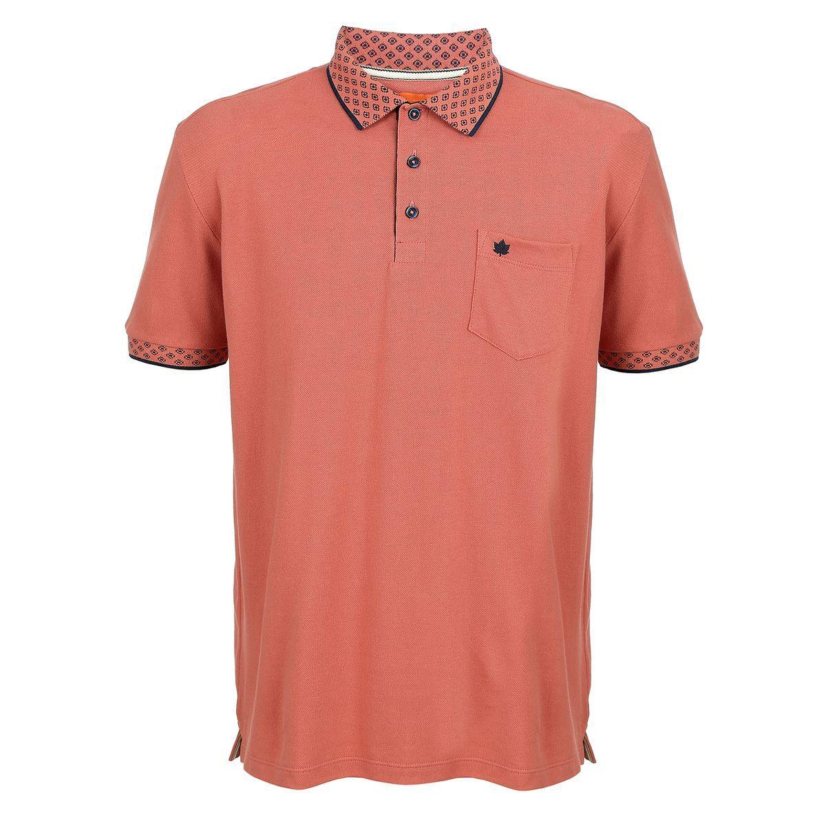 Camisa Polo Seeder com Bolso Terracota