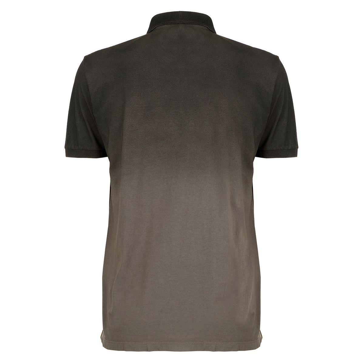 Camisa Polo Seeder com Spray Preto