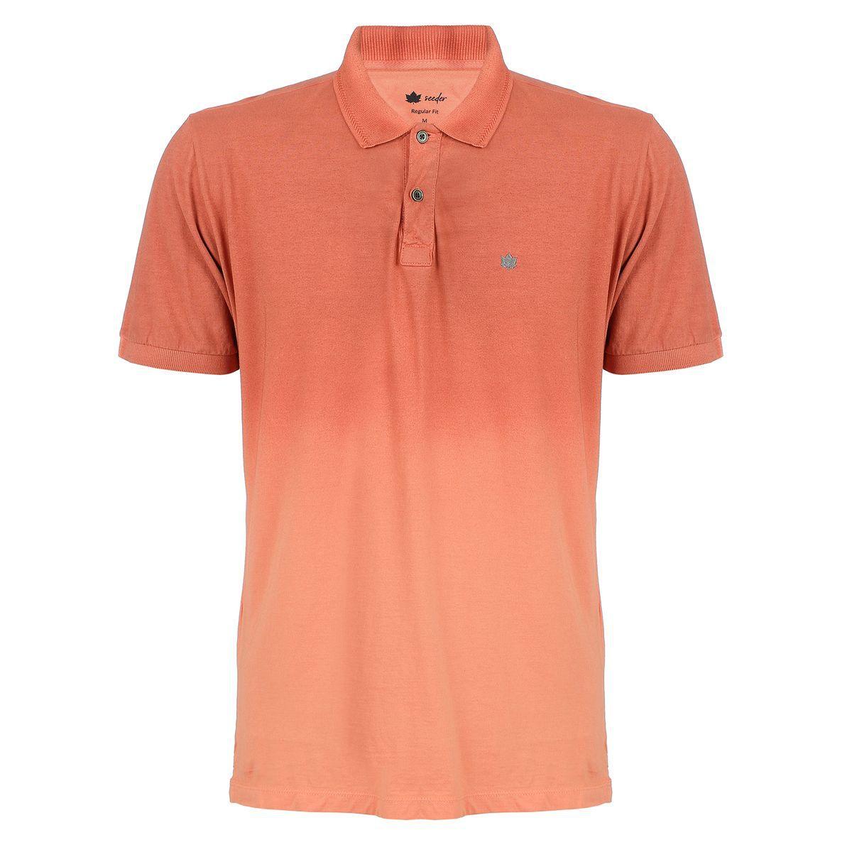 Camisa Polo Seeder com Spray Salmão