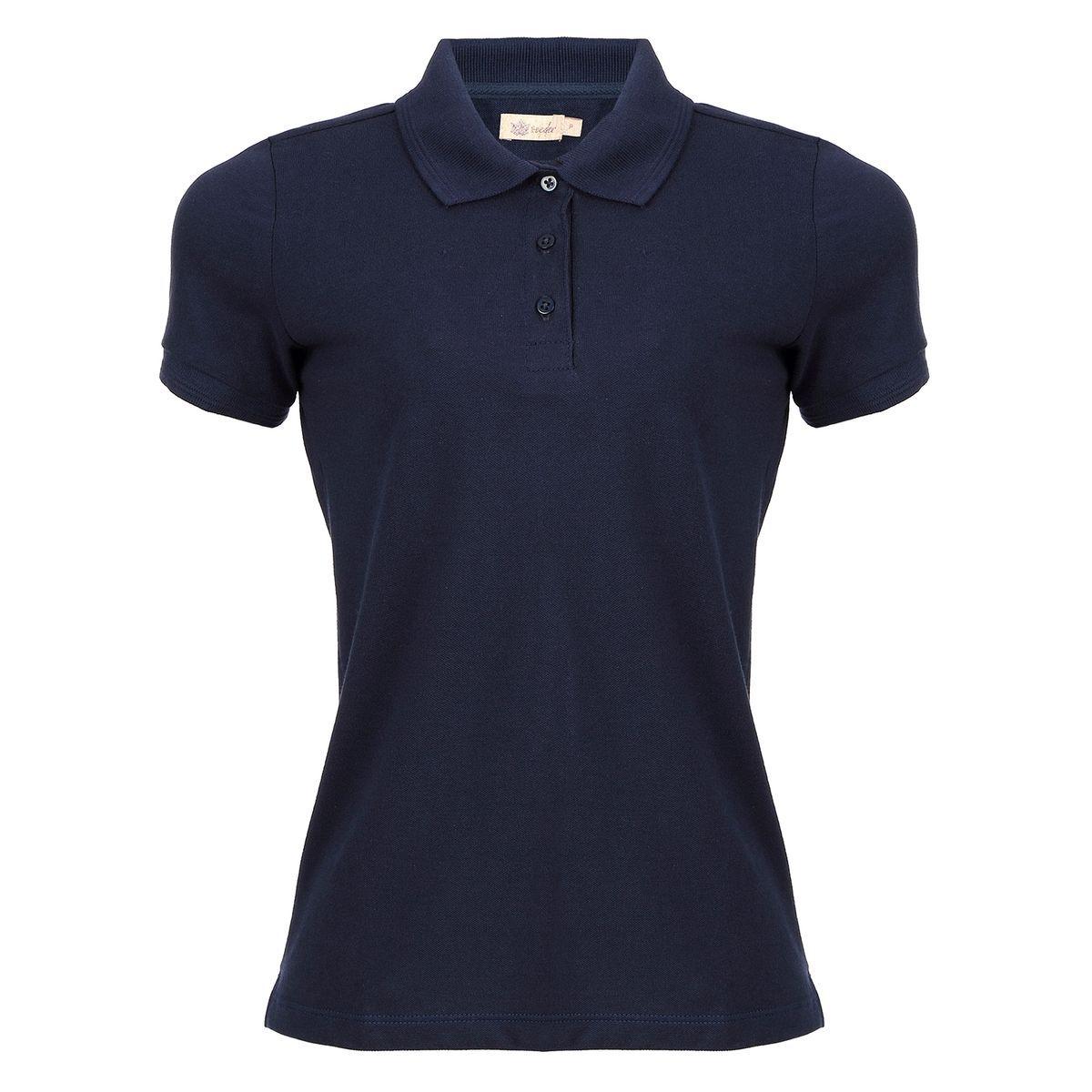 Camisa Polo Seeder Feminina Básica Azul