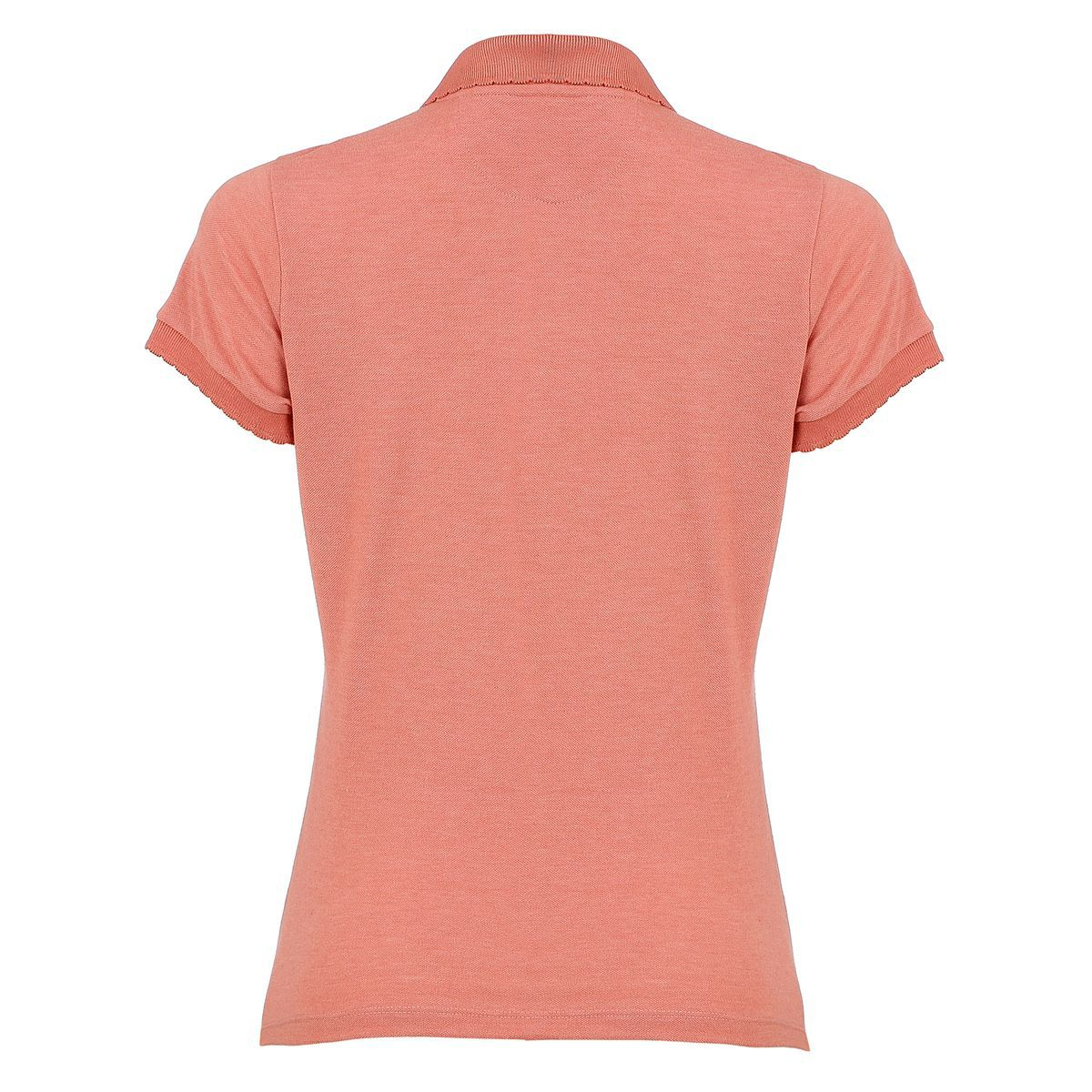 Camisa Polo Seeder Feminina com Renda Terracota