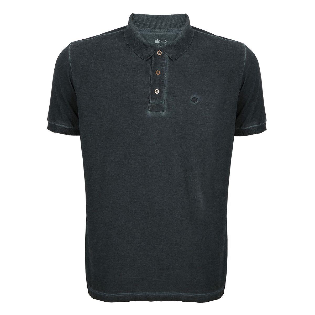 Camisa Polo Seeder  Meia Malha Azul