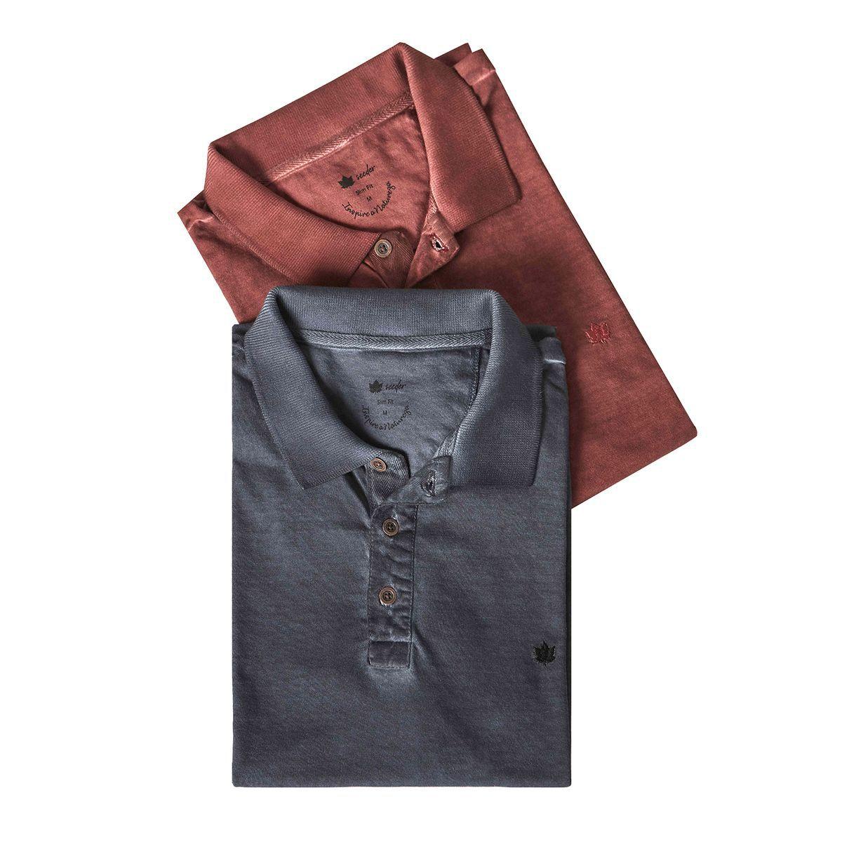 Camisa Polo Seeder Meia Malha Vinho