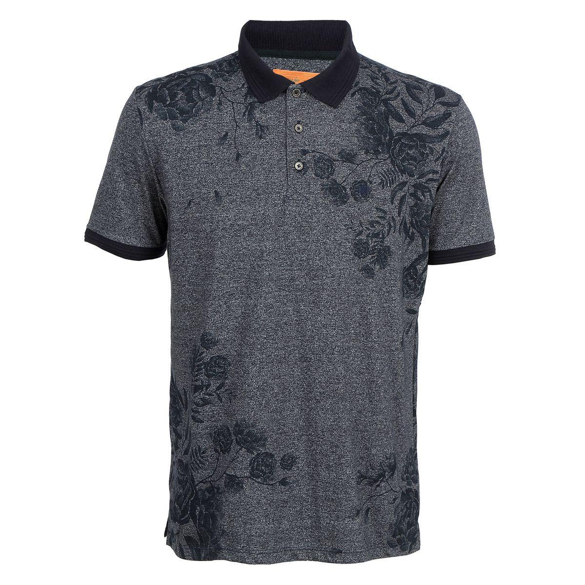 Camisa Polo Seeder Mouline Azul