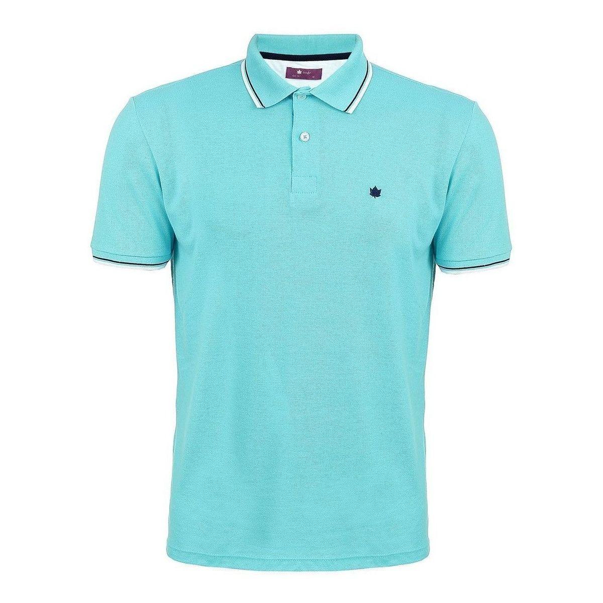 Camisa Polo Seeder Piquet Azul Claro