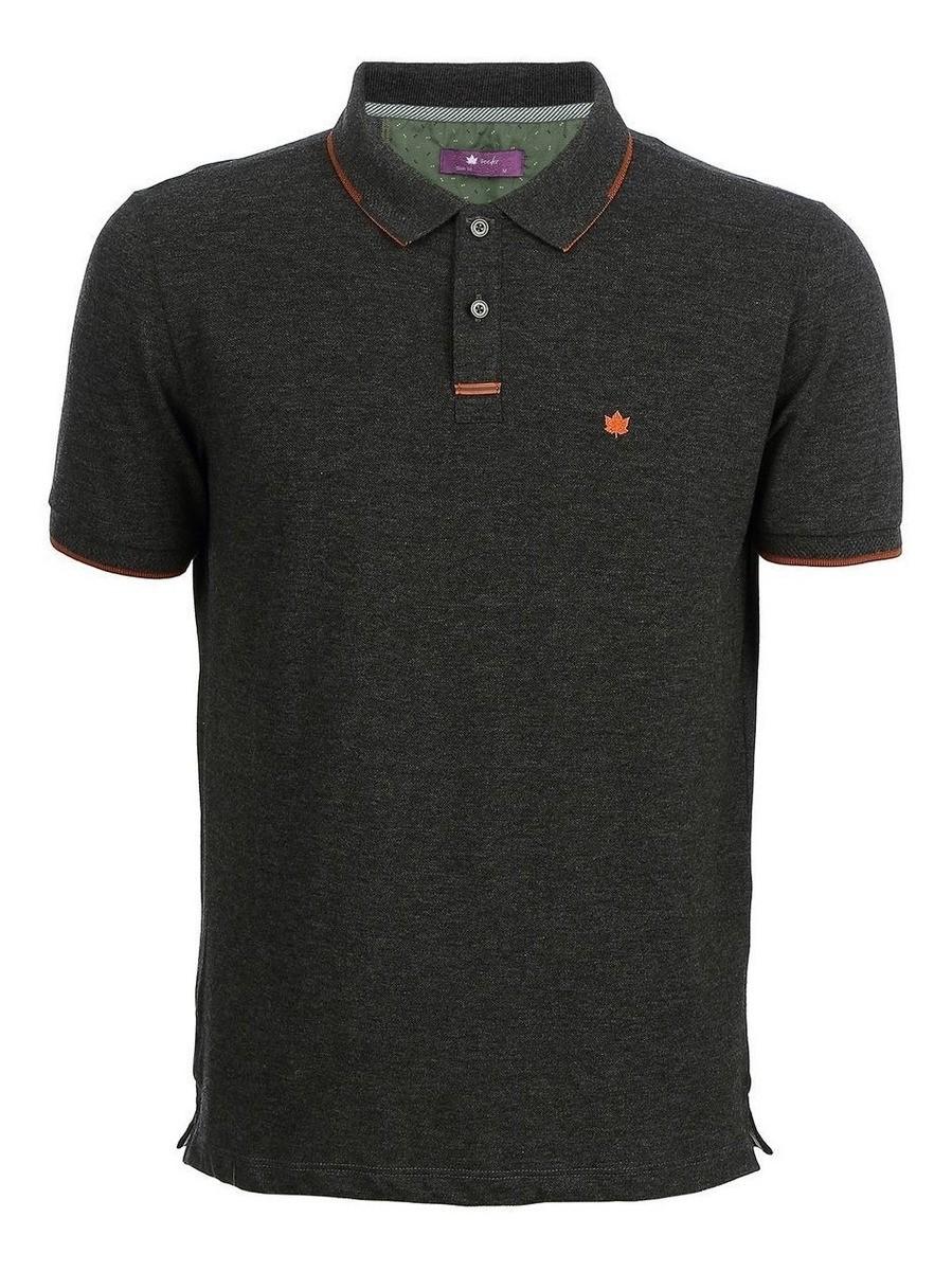 Camisa Polo Seeder Piquet Preto Mescla