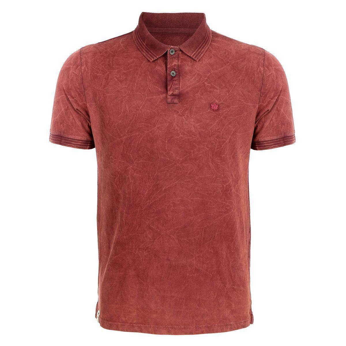 Camisa Polo Seeder Ting Diferenciado Vinho
