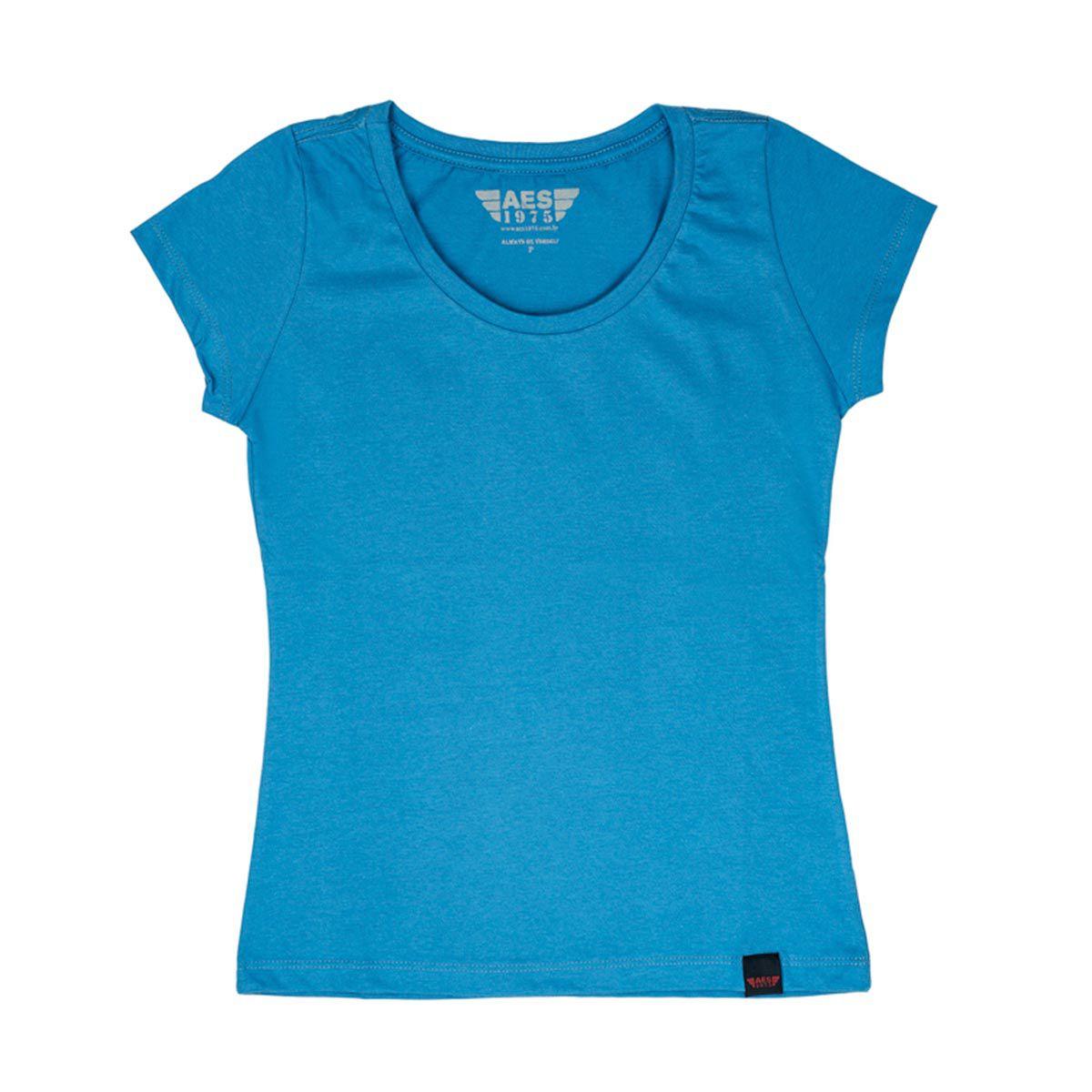 Camiseta Básica Azul
