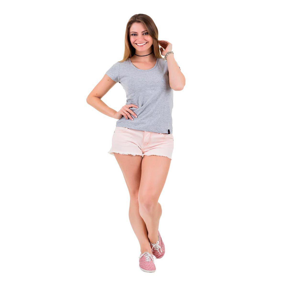 Camiseta Básica Cinza Mescla
