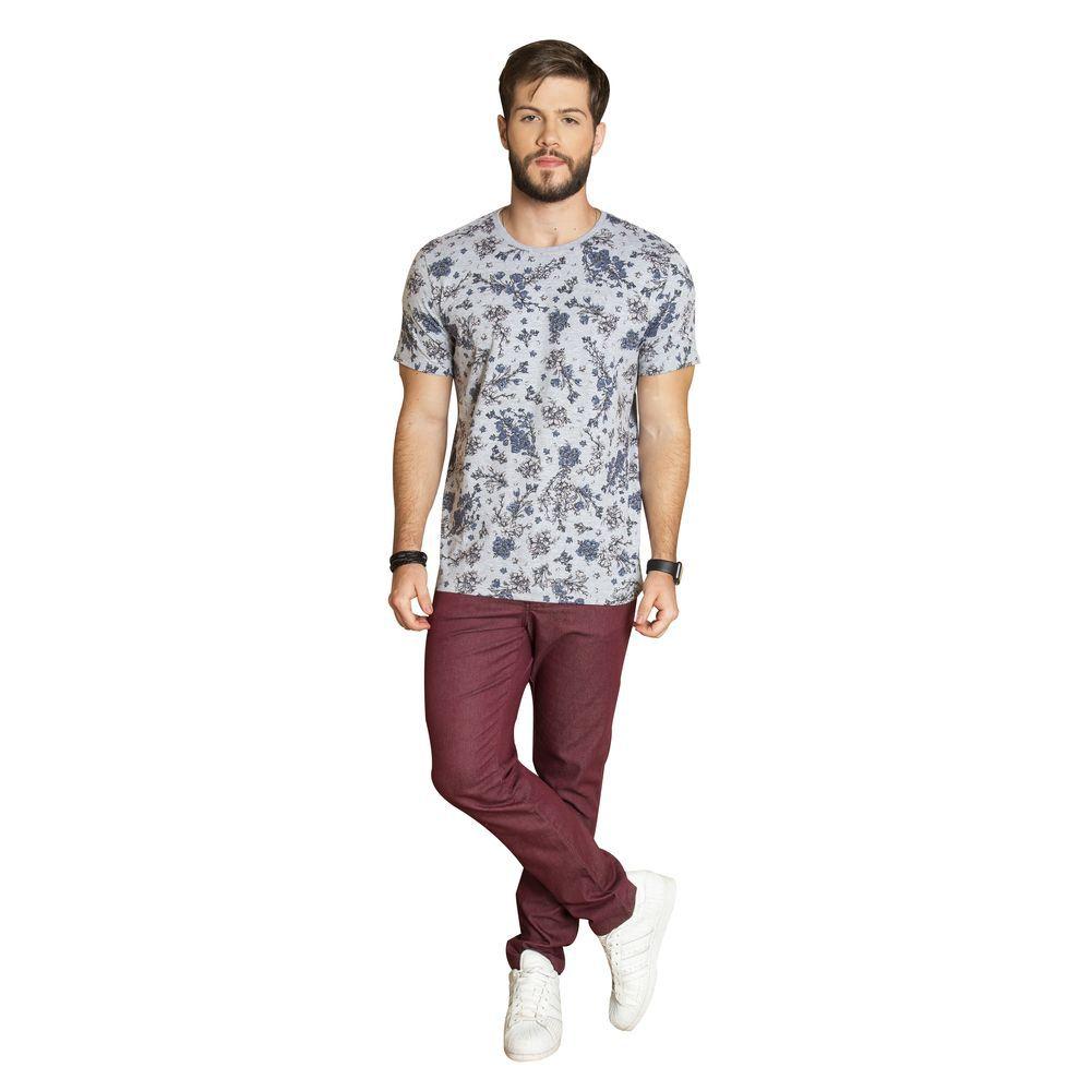 Camiseta manga curta floral