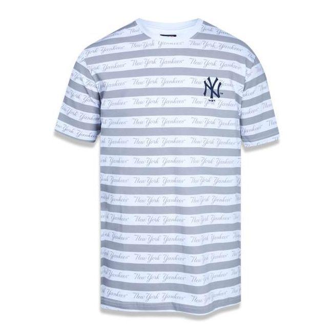Camiseta New Era All Over Lettering Neyyan - BRANCO
