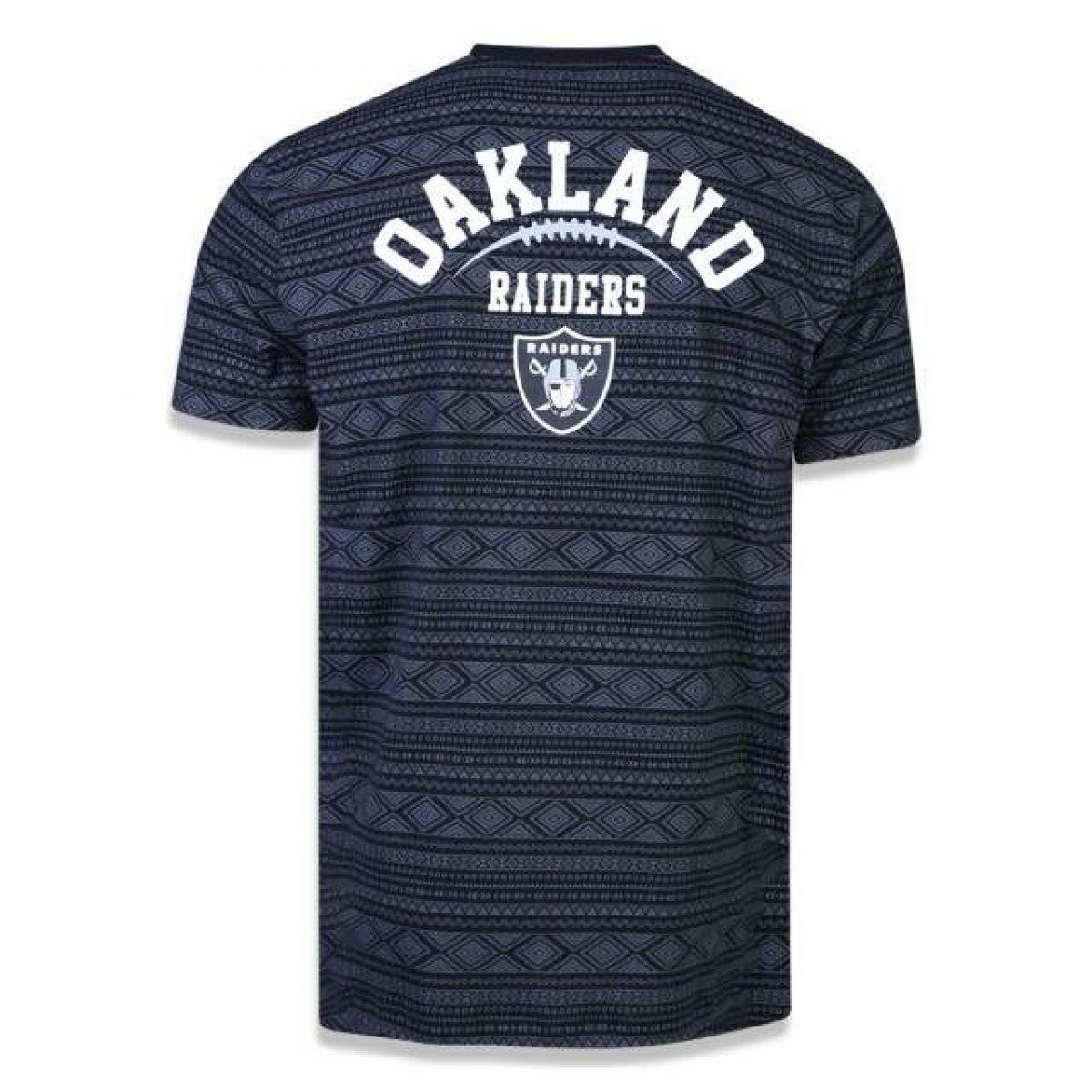 Camiseta New Era Native Americans Native Oakrai - PRETO