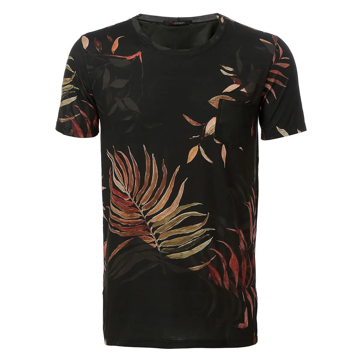 Camiseta Pargan Floral Preta