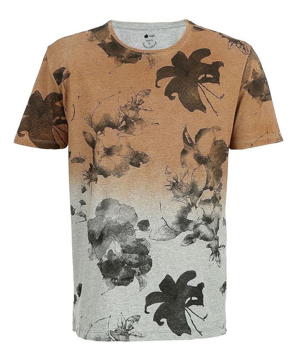 Camiseta Seeder Bicolor Bege e Cinza
