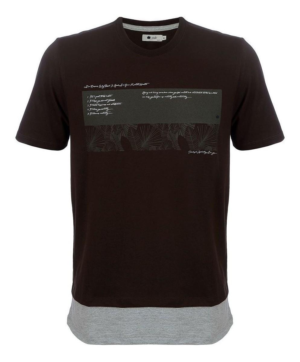 Camiseta Seeder com Recorte Marrom