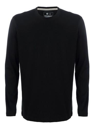 Camiseta Seeder Manga Longa Preto