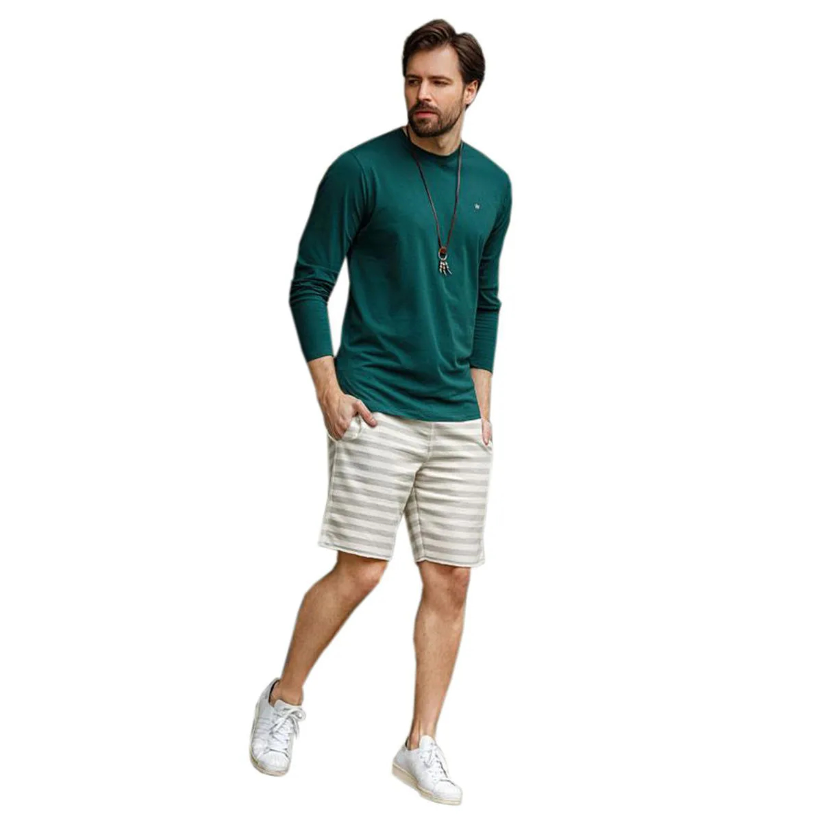 Camiseta Seeder Manga Longa Verde