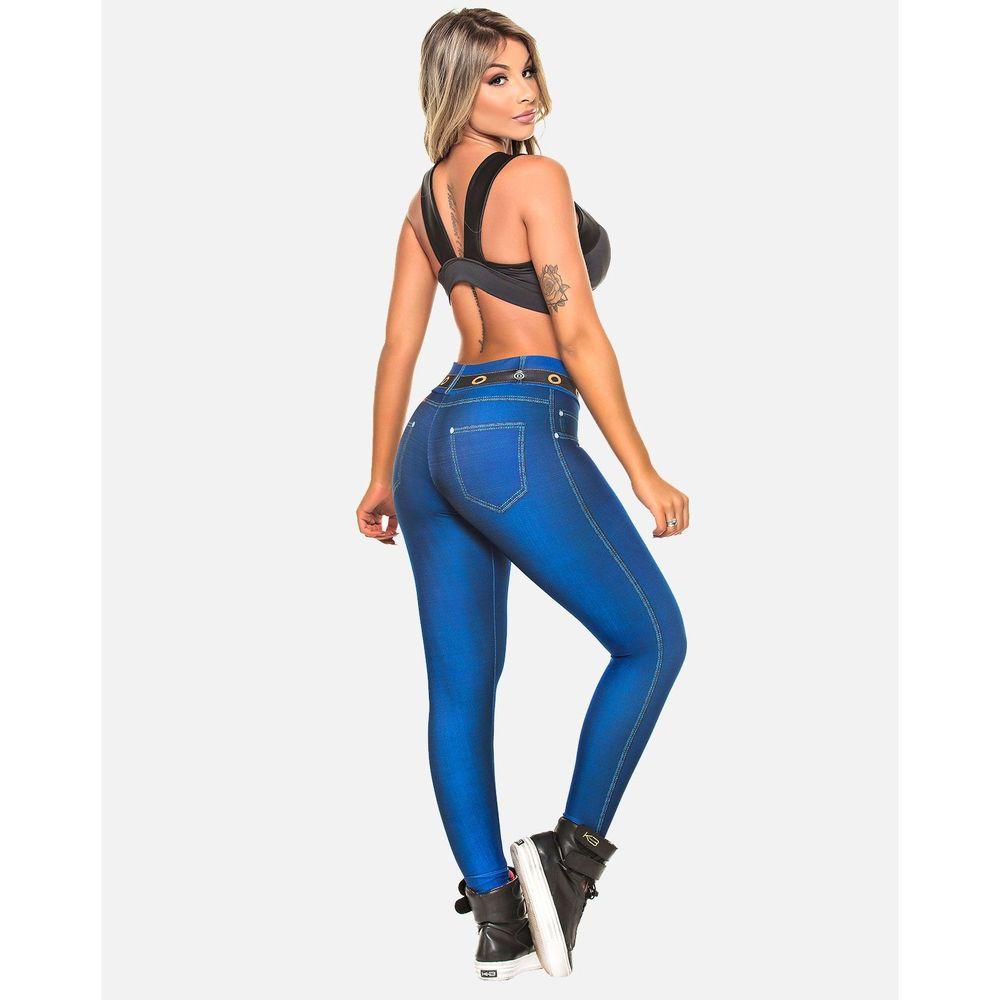 Legging Digital Jeans Marinho