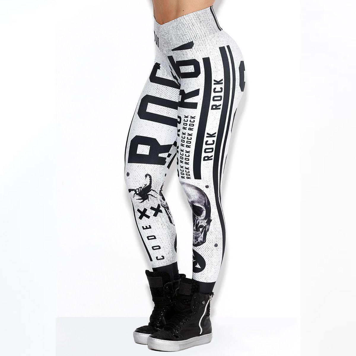 Legging Elastic Rock Stripes