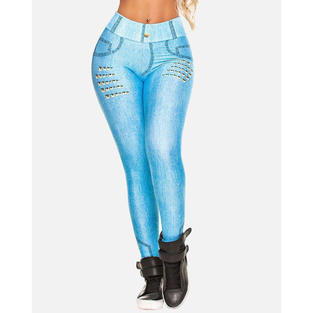 Legging Digital Jeans Claro