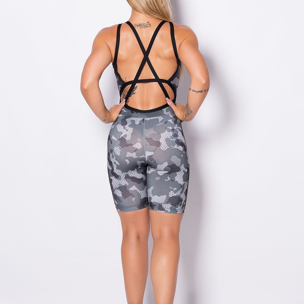 Macacão Fitness Stripes Dark